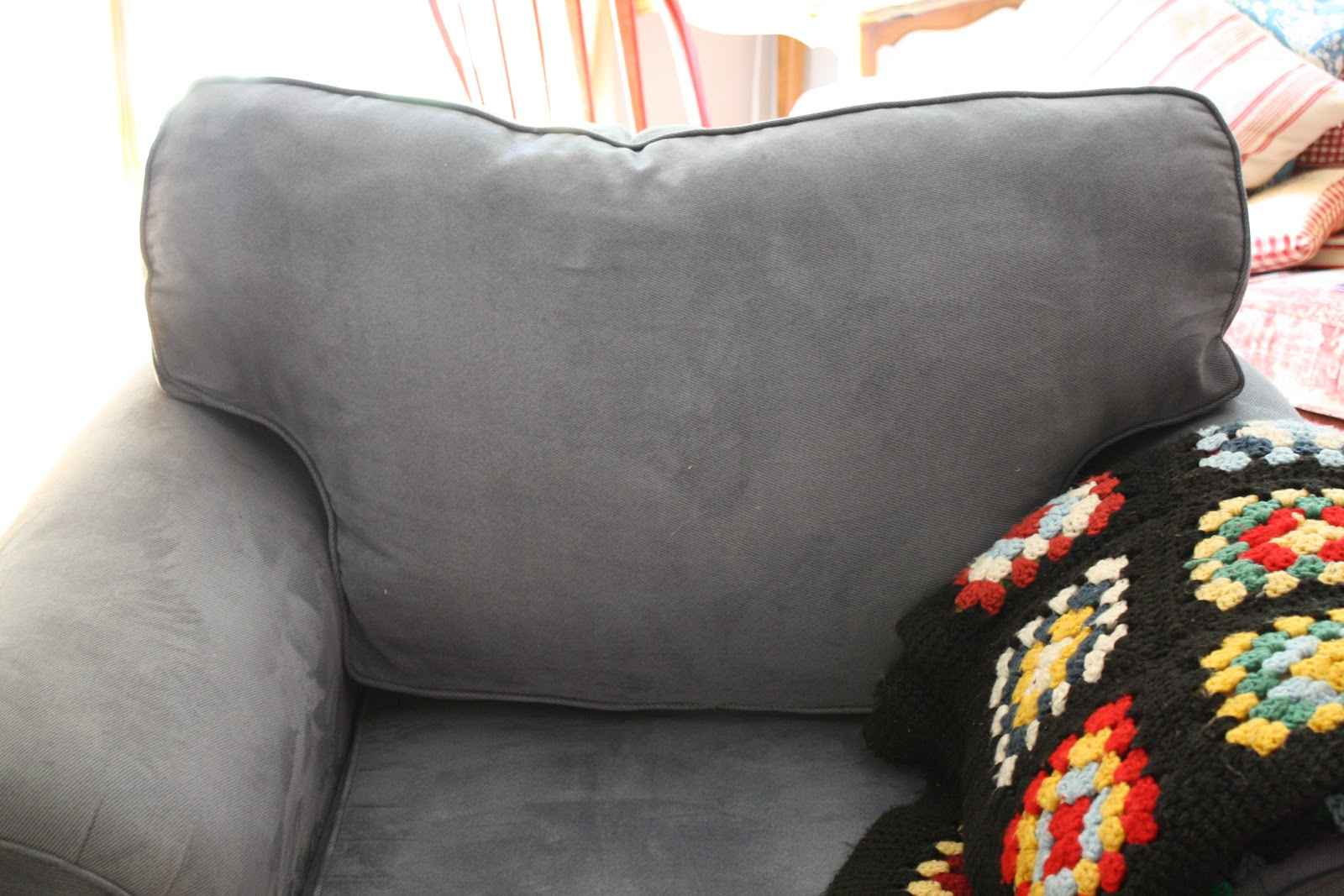 refilling sofa cushions 2 seater white leather bed sunny simple life how to refill couch cheaply